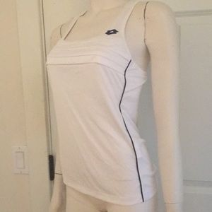 lotto Tops - Lotto Kaylee Tank in White/Denim, Size M, NWT!